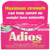 Adios Max Maximum Strength Diet Pills Slimming Tablets And Weight
